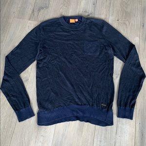 Hugo Boss orange men's sweater Small